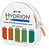 Hydrion QT-10 Papers Quaternary Ammonium Sanitizer Single Roll TEST KIT - Use with Steramine & Other Quaternary Sanitizers 0 - 400 ppm