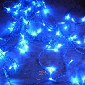 GudCraft Solar Powered Christmas Lights String Light 100 LED Blue Picture