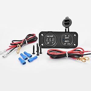 Amazon.com: 12V 2.1Amp Cigarette Lighter Outlet Dual USB Charger