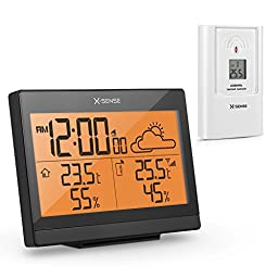 X-Sense AG-4R Wireless Weather Station with Indoor/Outdoor Temperature, Humidity, Forecast and Ice Alert