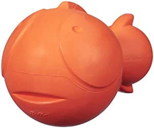 JW Pet Company Ruffians Fish Dog Toy, Large (Colors Vary)