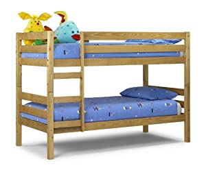 Wyoming , Standard Two Sleeper, 3ft, Solid Pine Wood BUNK BED with Luxury Spring MATTRESSES