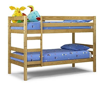 Happy Beds Wyoming Standard Two Sleeper 3' Solid Pine Wood Bunk Bed Frame