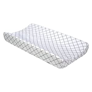 Trend Lab Changing Pad Cover, Versailles Black and White Diamond