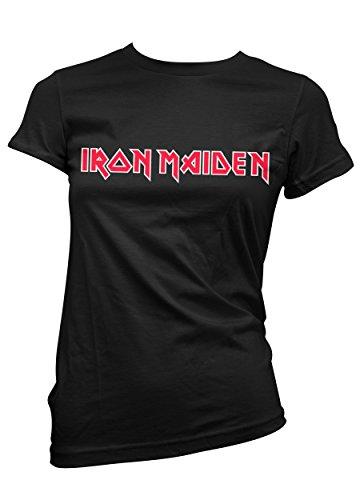 T-shirt Donna Iron Maiden - Maglietta rock metal 100% cotone LaMAGLIERIA, S, Nero