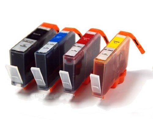 4 Cartouche d'encre compatible pour Imprimante HP Deskjet 3520 - Cyan / Jaune / Magenta / Noir- Avec Puce