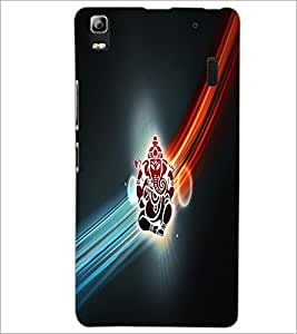 PrintDhaba Lord Ganesha D-2982 Back Case Cover for LENOVO A7000 TURBO (Multi-Coloured)