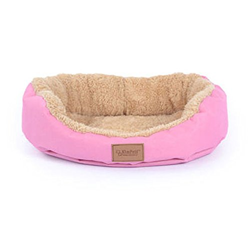 FFMODE Pet Dog Puppy Cat Soft Warm Bed Cozy Soft House Fleece Nest Cotton Mat Pad 18*16″, Pink, M