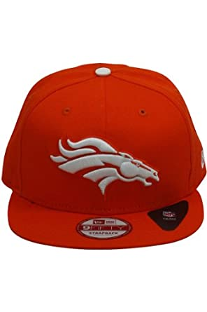 New Era New Era Leather Strapper Denver Broncos Strapback Hat Orange by New Era