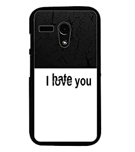 PrintDhaba Quote D-5456 Back Case Cover for MOTOROLA MOTO G (Multi-Coloured)