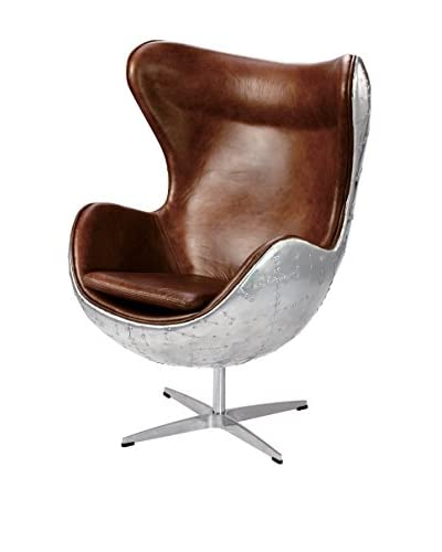 Iconic Accents Aviator Metal Egg Chair