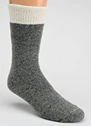 Men's Full Cushion Heavy Thermal Wool Work Socks (2 Pairs) (Denim)