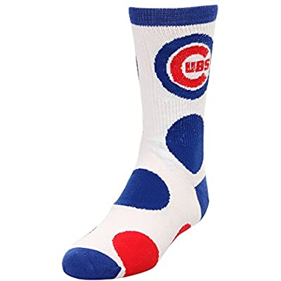 Chicago Cubs Infant / Toddler / Child Jumbo Dots Quarter-Length Socks by For Bare Feet