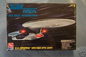 Star Trek the Next Generation Enterprise Model Kit with Fiber Optics Lighting System