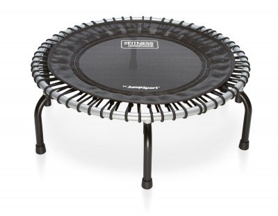 JumpSport 350 | Fitness Trampoline, In-Home Rebounder | Stable Exercise | Safe & Secure | No-Tip Arched Legs | Long Lasting Premium Bungees | Top Rated for Quality & Durability