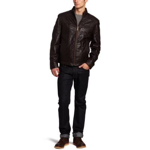 Marc New York by Andrew Marc Mens Cruz Soft Leather Open Bottom Jacket