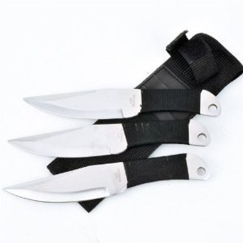 Fury Sure Thrower Set of 3 Carbon Steel Throwing Knives, 6.5-Inch