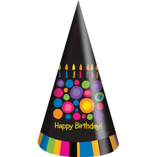 Birthday Cake Dots Party Hats (8ct) - 1