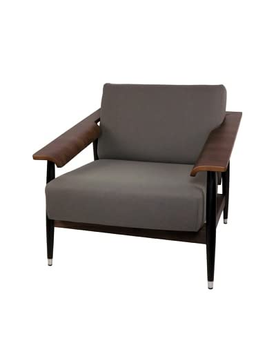 Control Brand Downey Lounge Chair, Grey/Walnut/Black