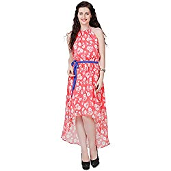 Eavan Women's Casual Wear Floral Polyester Dress