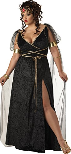 [Medusa Plus Size Costume] (Medusa Headpiece Halloween Costume)