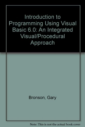Introduction to Programming Using Visual Basic 6