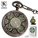 41W7QFWzobL. SL160  Celtic Pocket Watch And Tin With Free Lighter