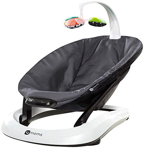 Best Review Of 4Moms bounceRoo Bouncer Seat, Dark Grey Classic
