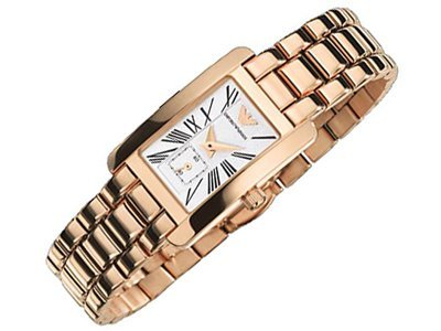 Emporio Armani AR0174 Ladies Gold Watch Mother Of Pearl