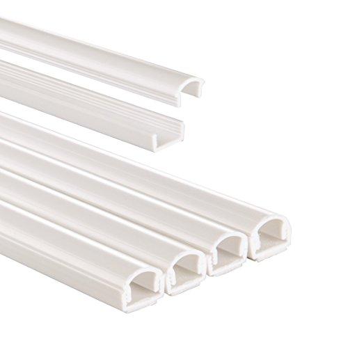 Hama-Kabelkanal-PVC-halbrund-100-x-11-x-10-cm-bis-zu-2-Kabel-4-Stck-wei