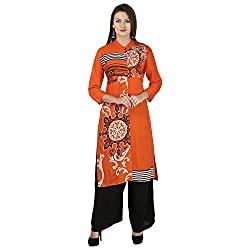 THE EG STORE Women Cotton A-Line Kurti, Blue(EG-KRT-03_XL)
