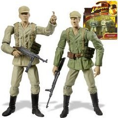 Picture of Hasbro Indiana Jones Deluxe Figure: German Soldier 2-Pack (B0018PVYXI) (Hasbro Action Figures)