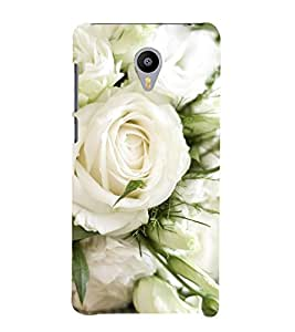 Vizagbeats White Roses Back Case Cover for MEIZU M2 note