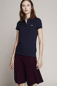 Short Sleeve 2 Button Stretch Pique Polo