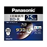 Panasonic ブルーレイディスク 録画用4倍速 25GB(単層 追記型) 20枚パック LM-BR25LT20 ランキングお取り寄せ