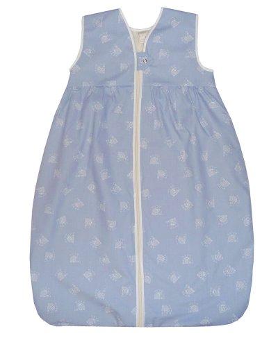 Lana Natural Wear Unisex – Baby Schlafsack Plüsch Hilde, Animalprint, Gr. 100, Blau (Hilde Delft 920)
