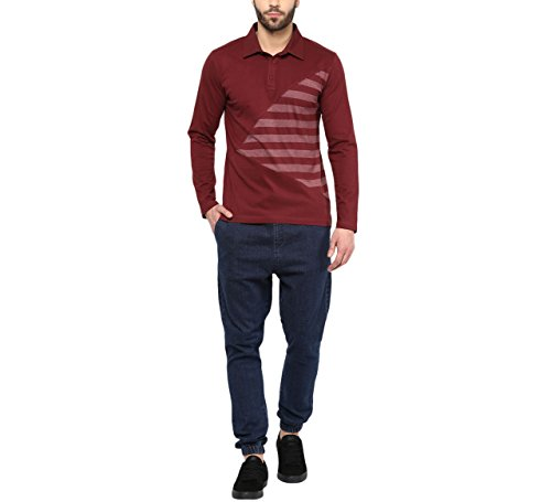 Hypernation-Maroon-Color-Cotton-Polo-T-shirt