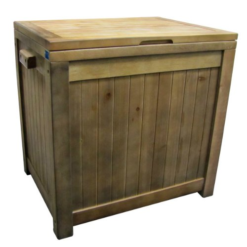 eucalyptus wood box outdoor patio cooler