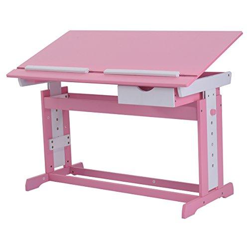 Kinderschreibtisch-Kindermbel-Kinderzimmer-Kindertisch-Schreibtisch-Schnlerschreibtisch-Computertisch-Brotisch-neigungsverstellbar-hhenverstellbar-Farbewahl-Rosa