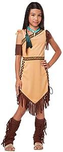 California Costumes Native American Princess Child Costume, Brown,  Large