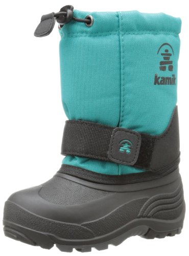 Kamik Footwear Rocket Insulated Boot (Toddler/Little Kid/Big Kid),Aqua,4 M US Big Kid Picture