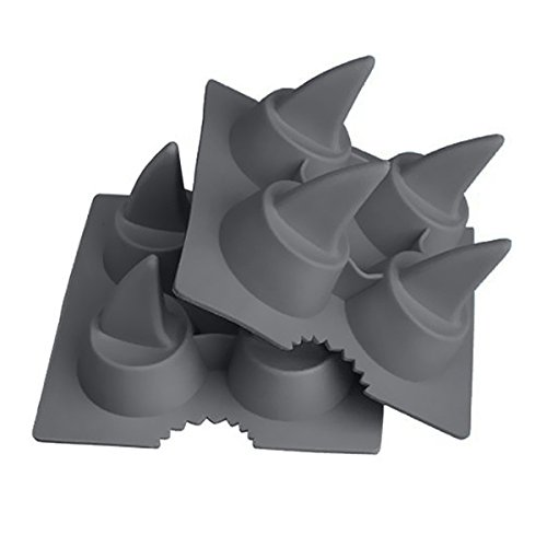 Starfrit Shark-Fin Silicone Ice Cube Trays, Gray (Ice Cube Shark compare prices)