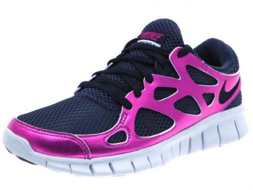 355b44c55a57 Nike Women s Free Run 2 PRM EXT Running Shoes Black Black Rave Pink Natural  Grey 6 B US