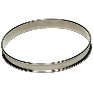 "Tart Ring 3/4"" High, Stainless Steel - 200mm (8"")"