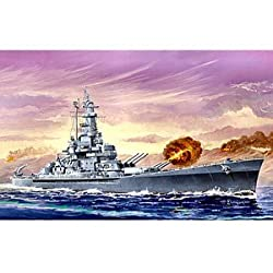Grown-Up Toys - Trumpeter 1/700 USS Massachusetts BB59 Battleship Model Kit - toys-games