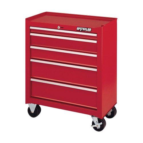 "Waterloo Sca-26514Rd-F 26"" 5-Drawer Red Cabinet- Maximum Load: 500 Lbs. Dimensions 26.5"" X 14"" X 32"""
