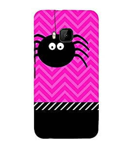 Spider Clipart Cute Fashion 3D Hard Polycarbonate Designer Back Case Cover for HTC One M9 :: HTC One M9S :: HTC M9 :: HTC One Hima