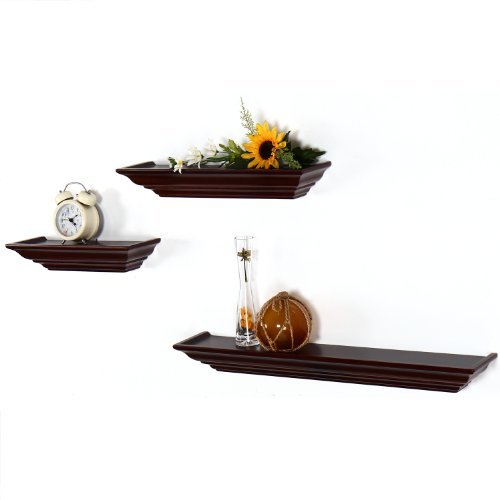 Adeco ws0085 decorative home decor walnut color wood for Different home decor