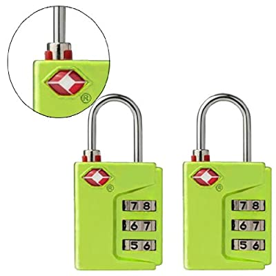 Smartraveler TSA Approved 3 Dial Combination Luggage lock (With Instant Alert Red Tab Indicator If opened By TSA) 2 Pack from Smartraveler