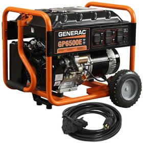 Generac 6515 6500-watt Electric Start Portable Generator with 20-Feet Cord